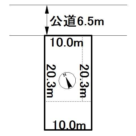 美幌町字栄町1丁目13番 土地 間取図・土地図