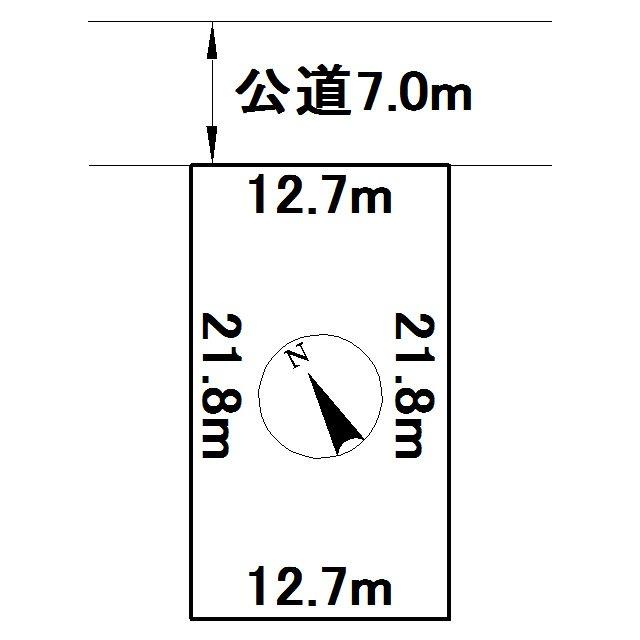 美幌町字新町1丁目63番 土地 間取図・土地図