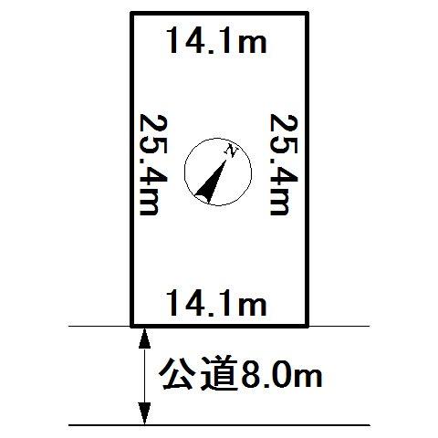 美幌町字美禽306番 土地 間取図・土地図