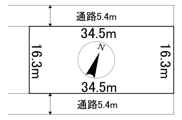 留辺蘂町栄町106番 土地 間取図・土地図