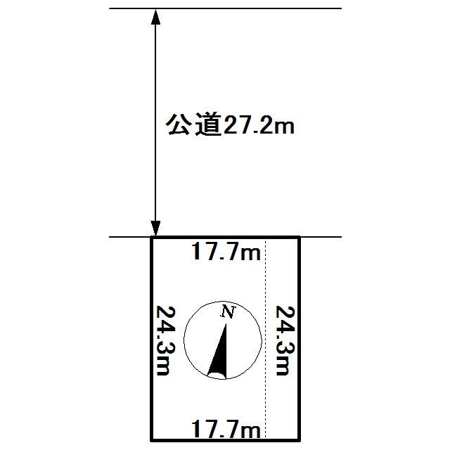 東相内町608番 土地 間取図・土地図