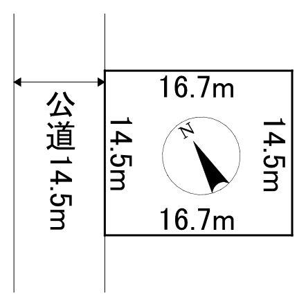 美幌町字美芳8番 土地 間取図・土地図