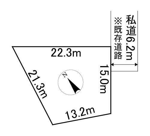 端野町二区451番 土地 間取図・土地図
