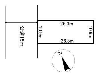 美幌町字東町1丁目7番 土地 間取図・土地図
