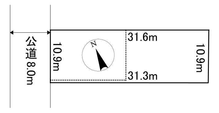 美幌町字東4条南3丁目16番 土地 間取図・土地図