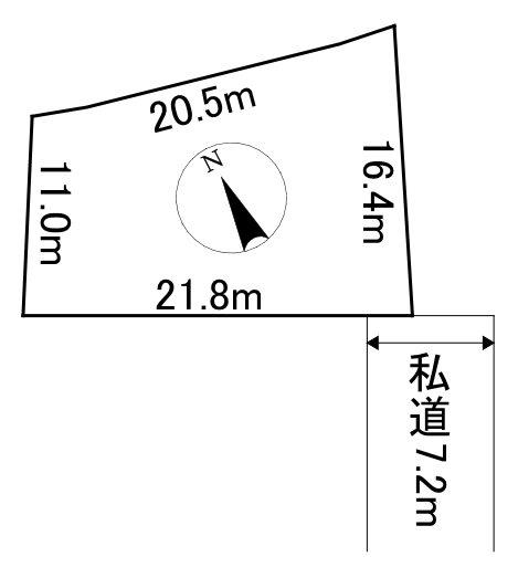 美幌町字美芳4番 土地 間取図・土地図