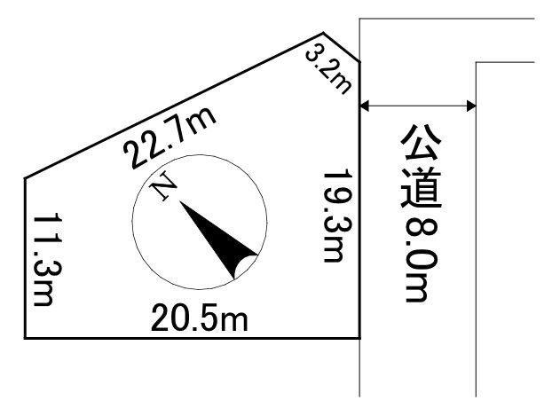 東陵町70番 土地 間取図・土地図