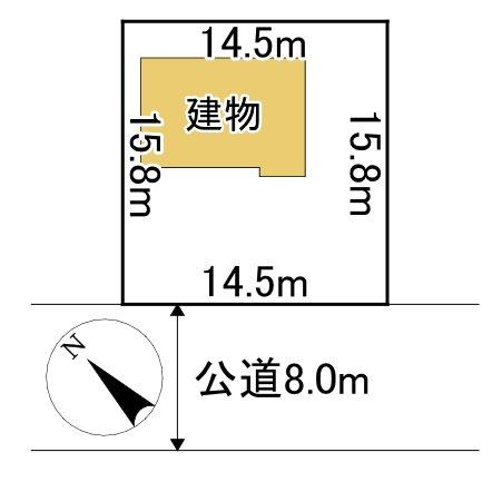 美幌町字稲美109番 土地 間取図・土地図