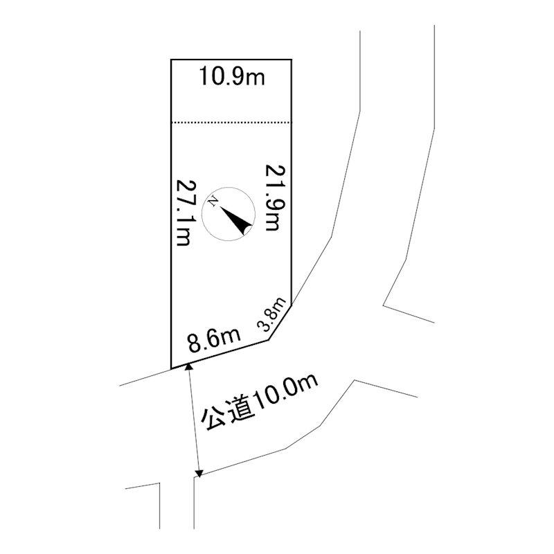 美幌町字元町39番 土地 間取図・土地図