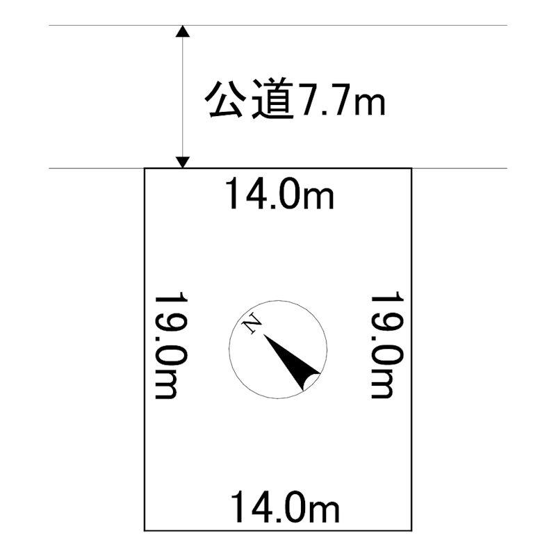 川東340番 土地 間取図・土地図