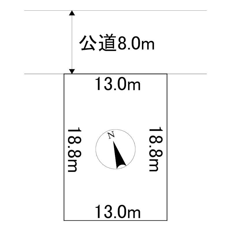 美幌町字日の出1丁目12番 土地 間取図・土地図