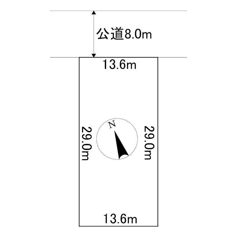 美幌町字青葉1丁目14番 土地 間取図・土地図