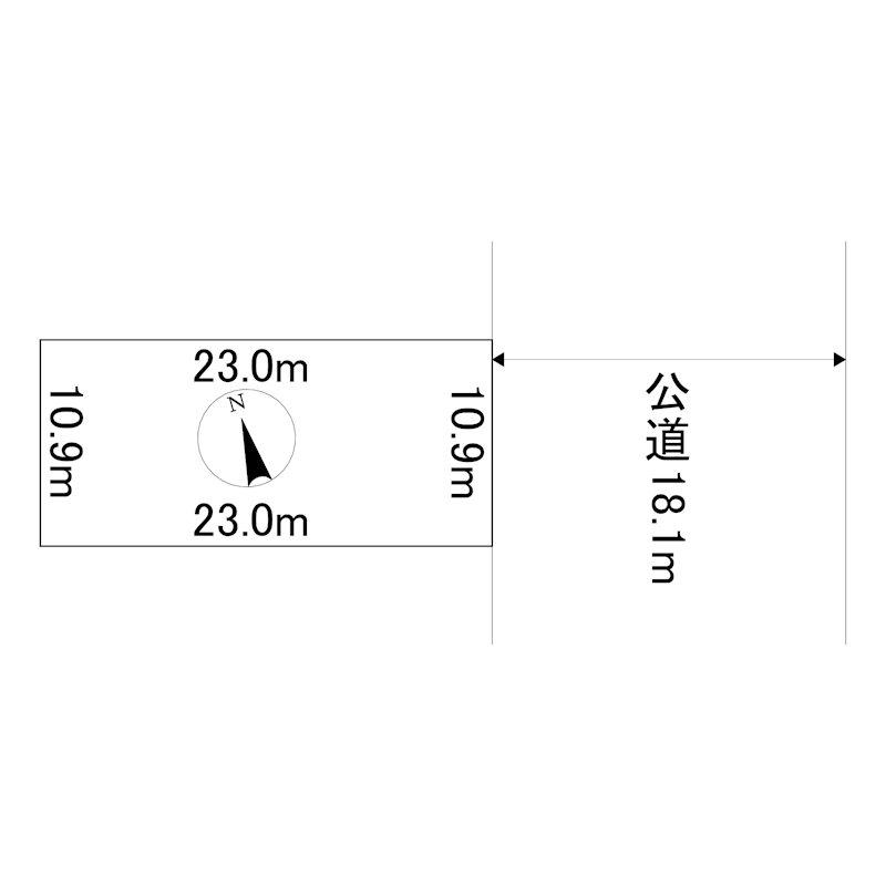 美幌町字東1条南2丁目3番 土地 間取図・土地図