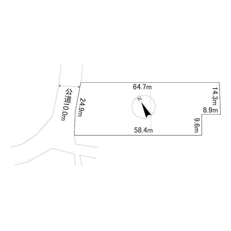 美幌町字元町38番 土地 間取図・土地図
