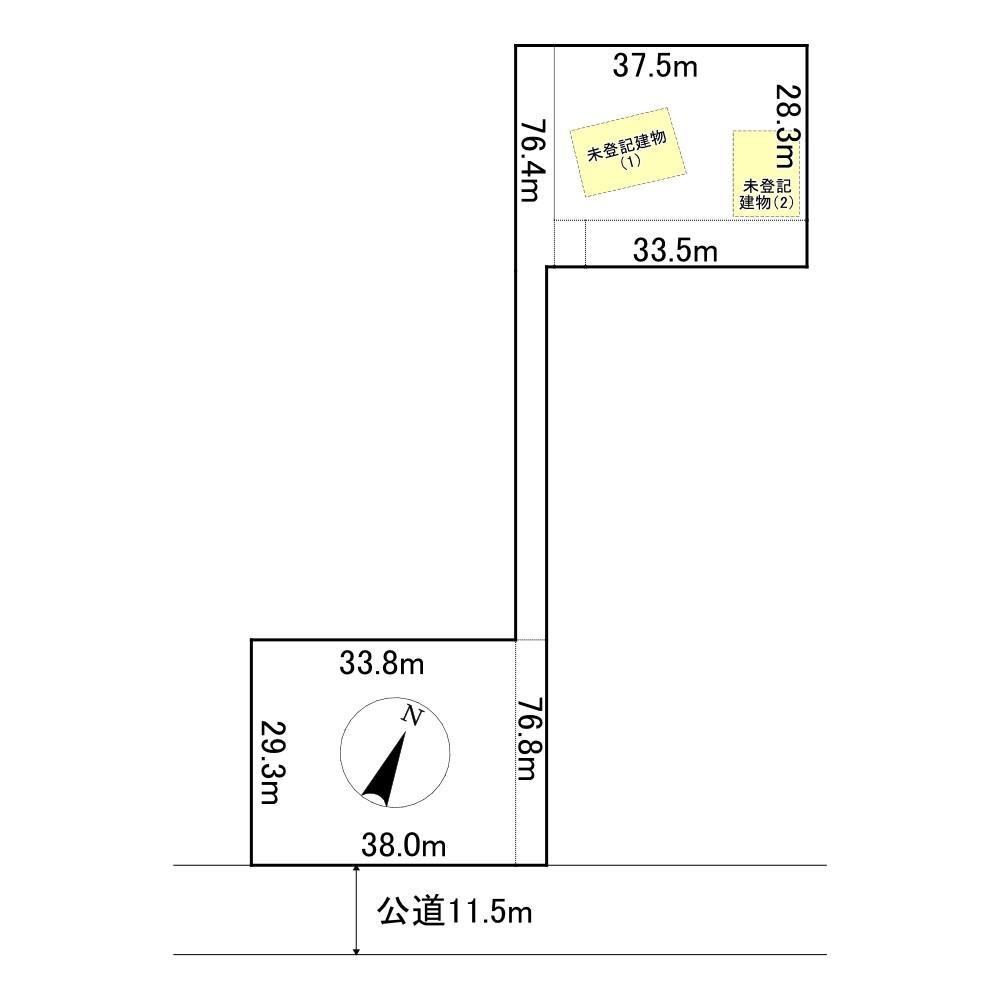 佐呂間町字中園8番 土地 間取図・土地図
