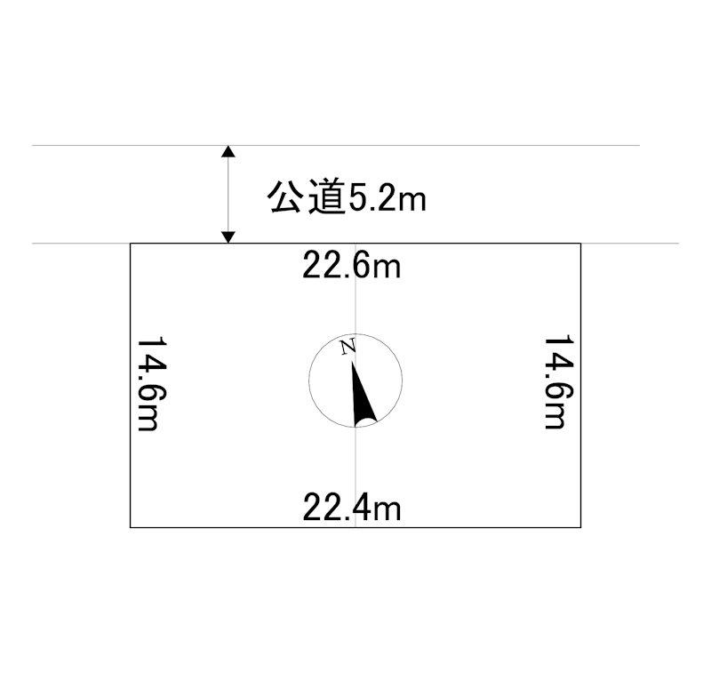 美幌町字青山南16番 土地 間取図・土地図