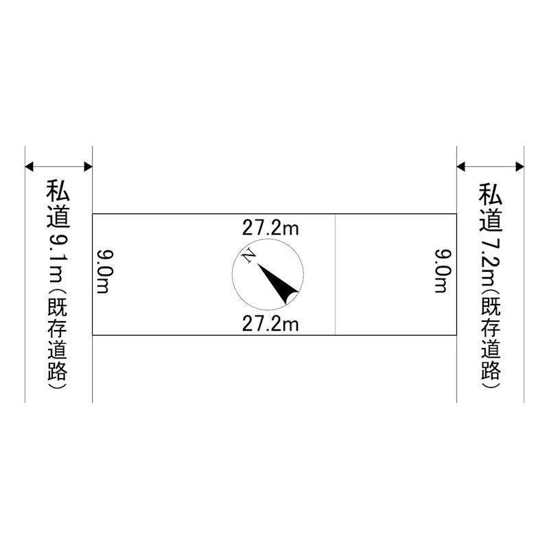 朝日町48番 土地 間取図・土地図