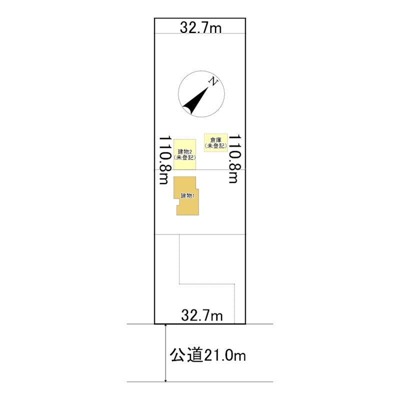 小泉496番 土地 間取図・土地図