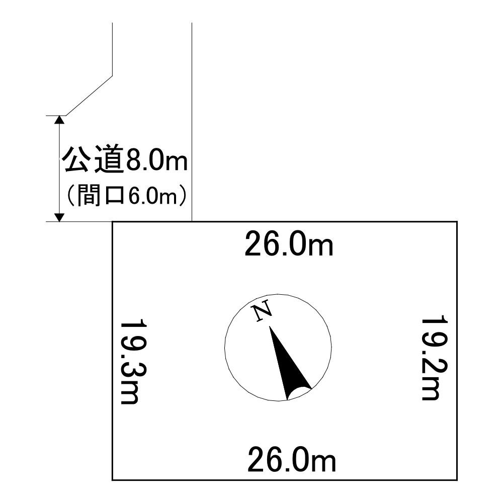 美幌町字稲美52番50 土地 間取図・土地図