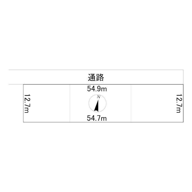 佐呂間町字宮前町149番 土地 間取図・土地図
