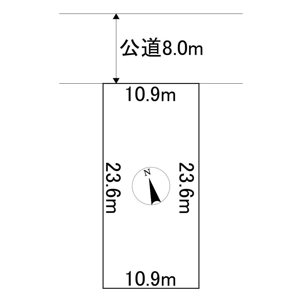 美幌町字東町1丁目9番 土地 間取図・土地図