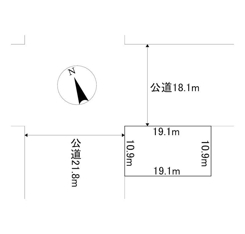 美幌町字大通南2丁目1番 土地 間取図・土地図