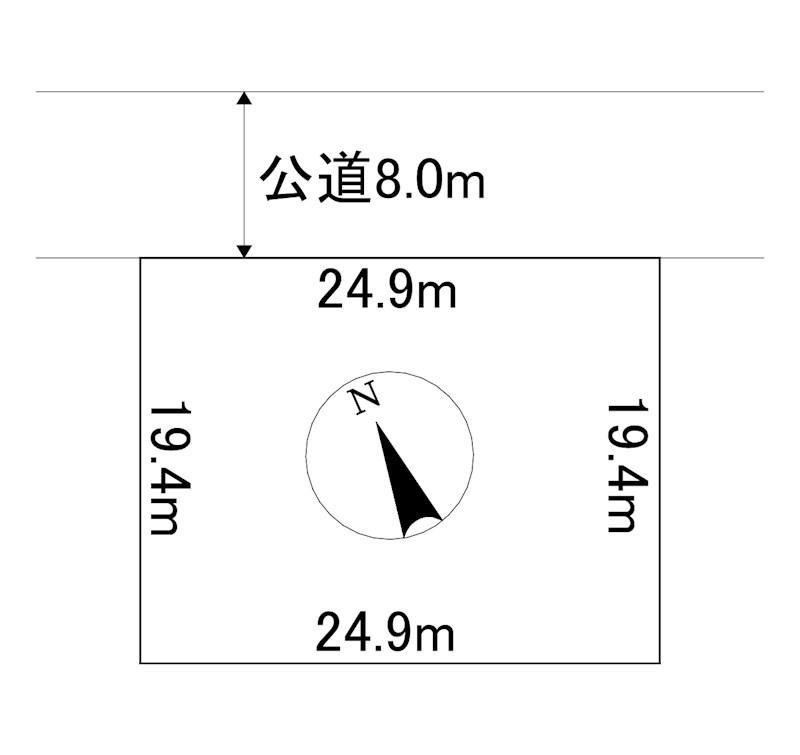 美幌町字稲美52番48 土地 間取図・土地図