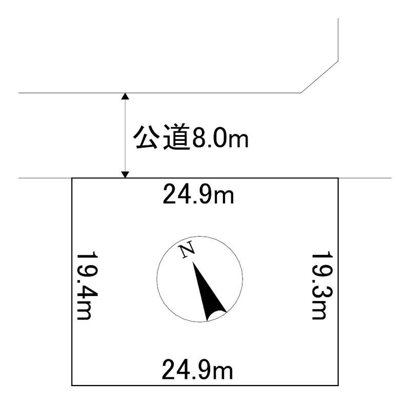 美幌町字稲美52番49 土地 間取図・土地図