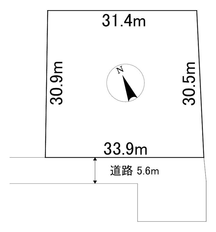 網走市字呼人123番13 土地 間取図・土地図