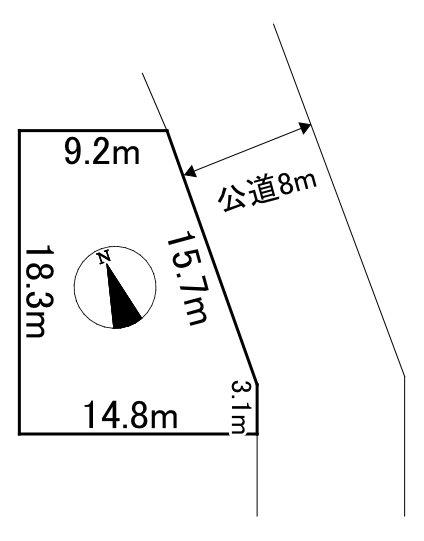 美幌町字東2条南5丁目4番 土地 間取図・土地図