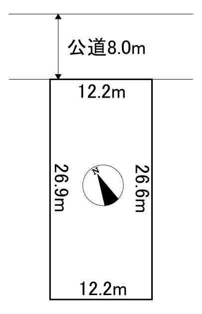 網走市字呼人165番29 土地 間取図・土地図