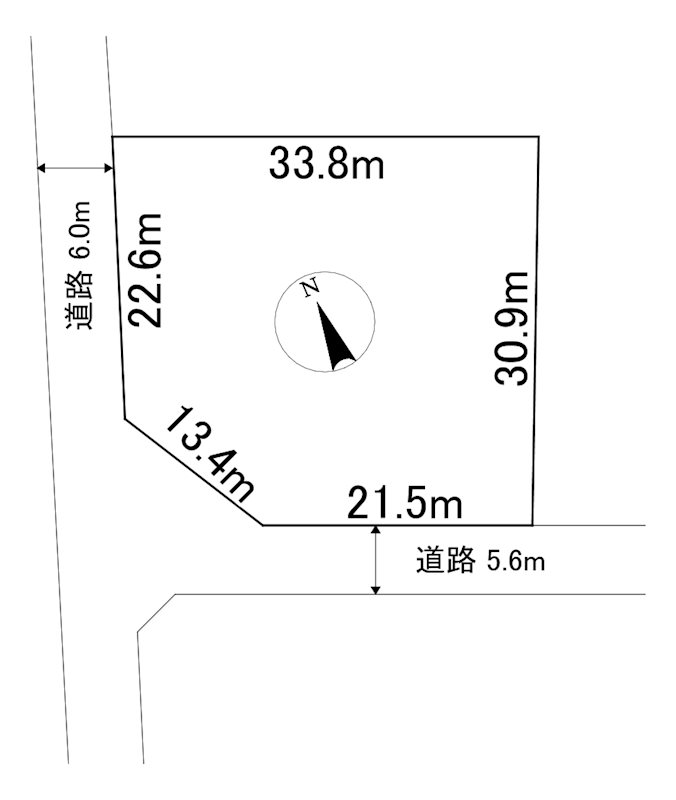 網走市字呼人123番10 土地 間取図・土地図