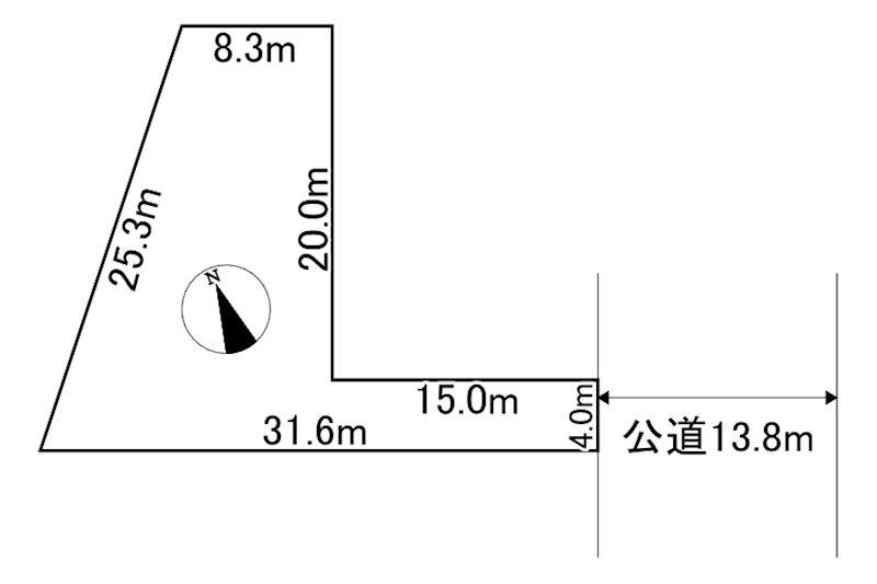 遠軽町東町1丁目4番 土地 間取図・土地図
