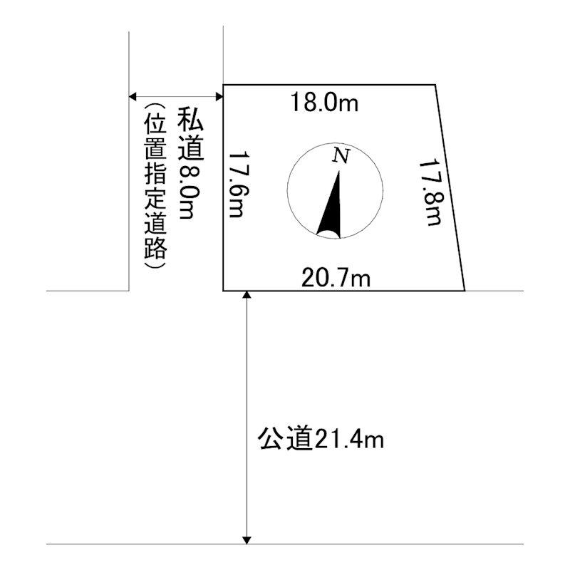 高栄東町1丁目150番 土地 間取図・土地図
