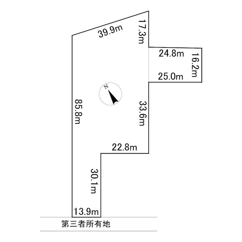 網走市呼人62番40 土地 間取図・土地図