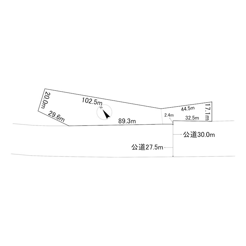 網走市字藻琴3番 土地 間取図・土地図
