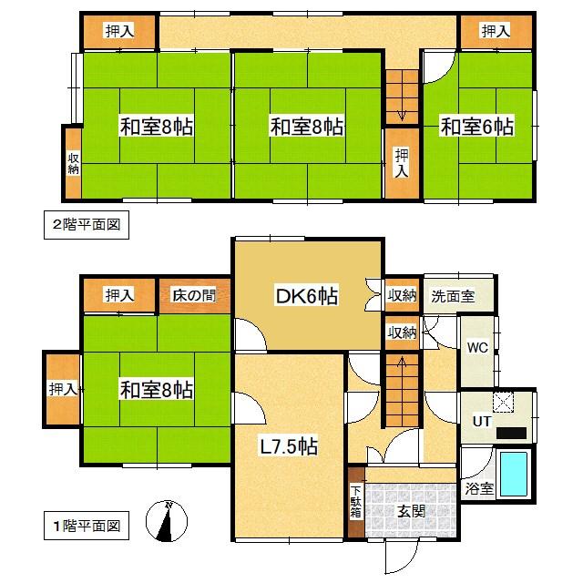 美幌町字青山北9番 戸建て 間取図・土地図