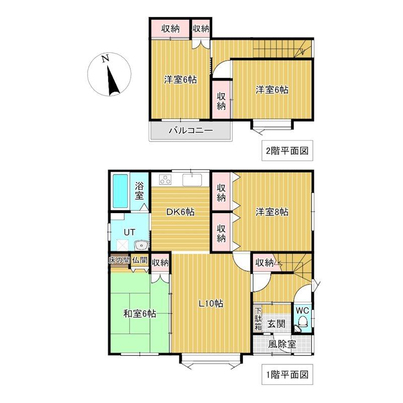 美幌町字東4条南4丁目17番 戸建て 間取図・土地図