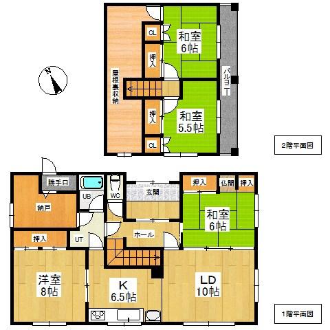 田端町32番 戸建て 間取図・土地図