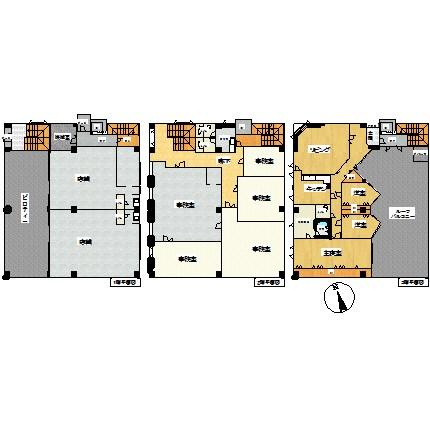 美幌町字新町1丁目3番 店舗 間取図・土地図
