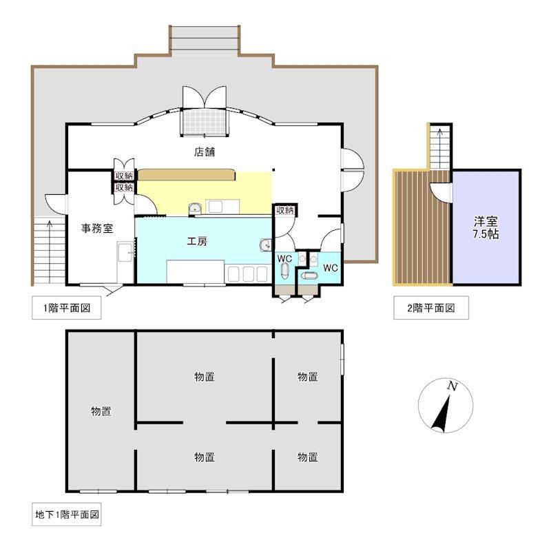 留辺蘂町旭東10番 店舗 間取図・土地図
