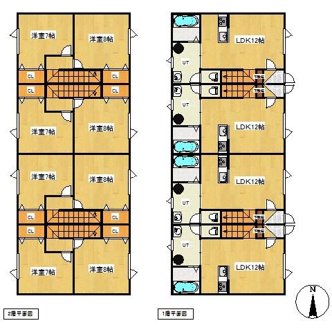 北光443番 共同住宅 間取図・土地図