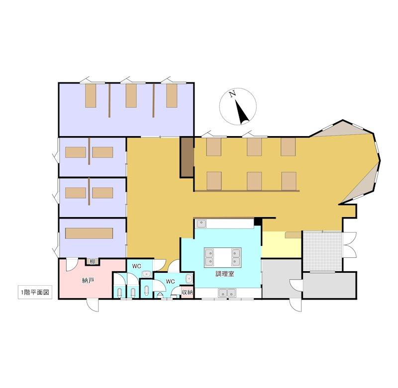 美幌町字稲美150番 店舗 間取図・土地図
