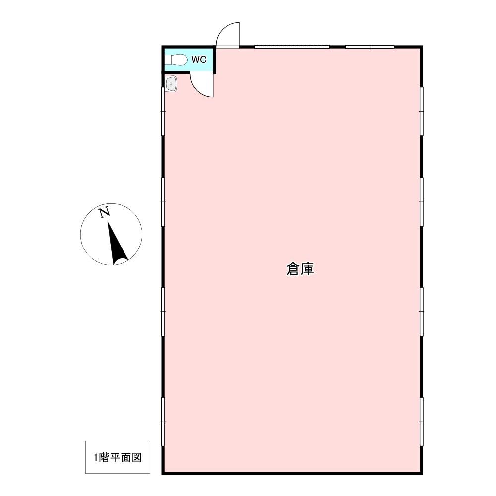 美幌町字青山南17番 倉庫A 間取図・土地図