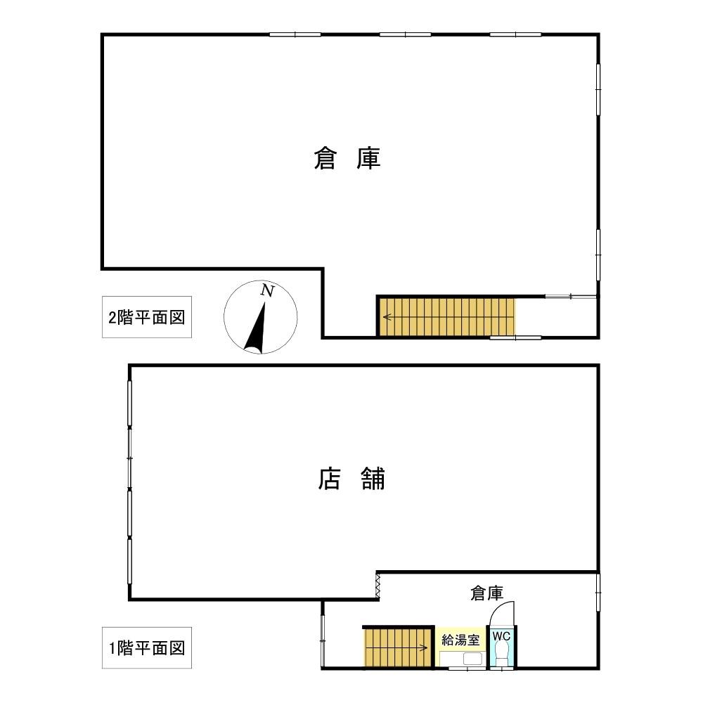 とん田東町470番 店舗 間取図・土地図