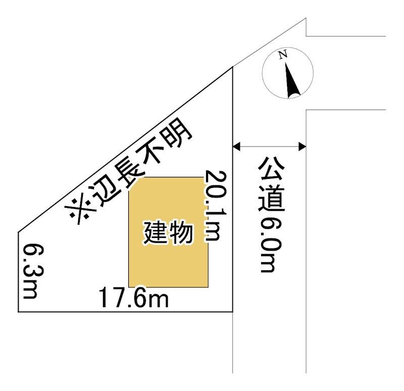 美幌町字仲町1丁目142番 土地 間取図・土地図