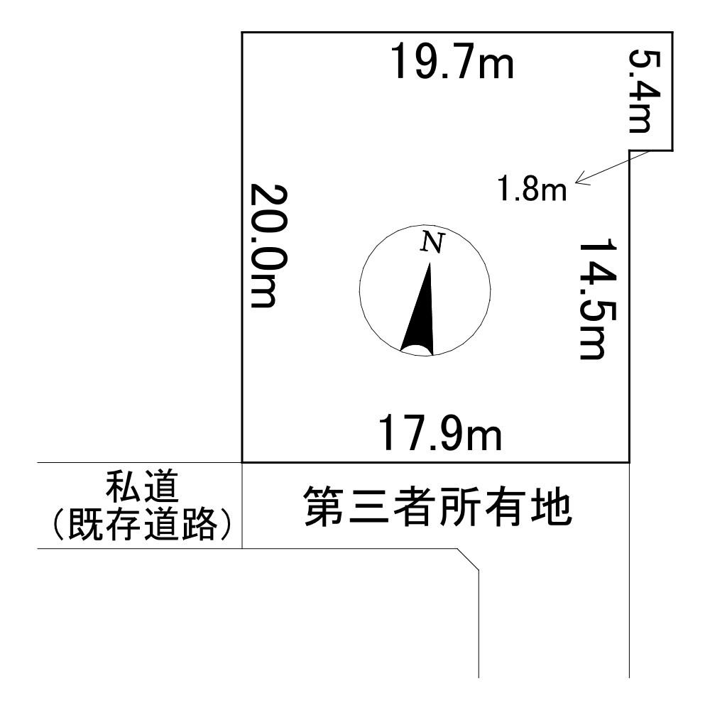 相内町39番 土地 間取図・土地図