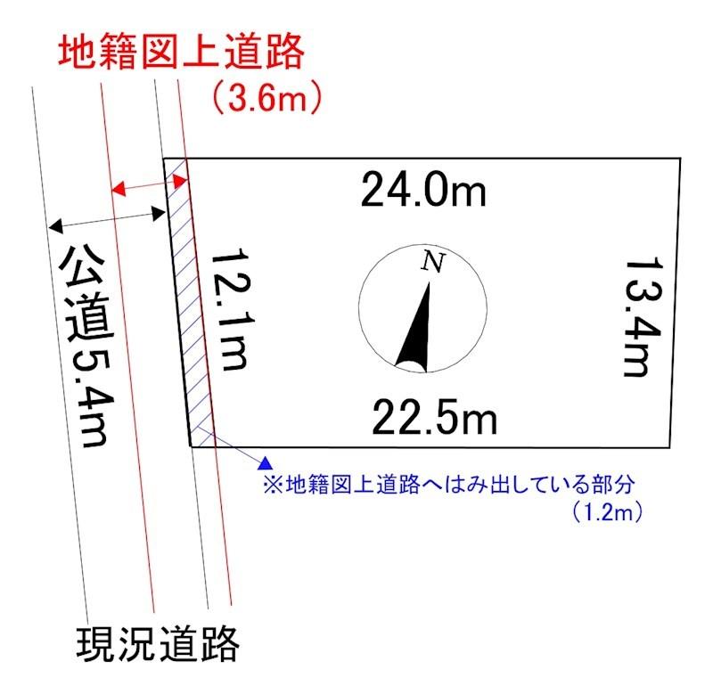 相内町199番 土地 2 間取図・土地図