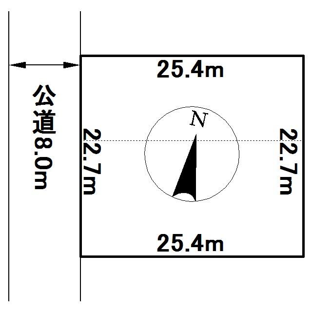 美山町南8丁目39番 土地 間取図・土地図