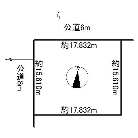 北海道北見市常盤町2丁目 間取図・土地図